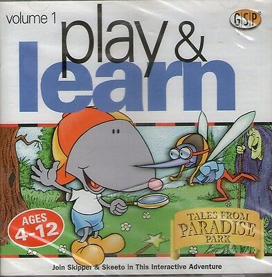 Play And Learn | Paradise Park |  Win 95 98 | Excellent / New Condition • 1.42£