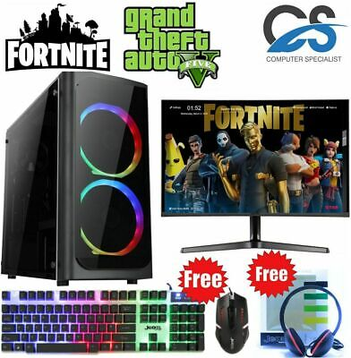 ULTRA FAST I3 I5 I7 Desktop Gaming Computer PC 2TB 16GB RAM GTX 1660 Windows 10 • 199.99£