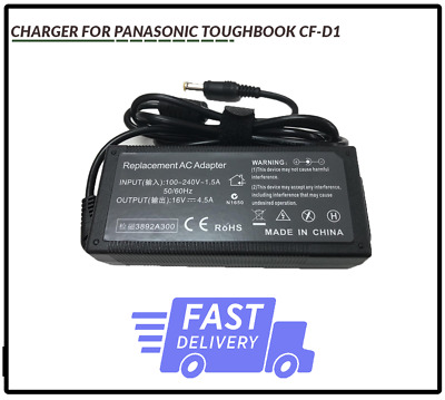 CHARGER FOR PANASONIC TOUGHBOOK CF-D1 16V 4.5A UK Stock Same Day Dispatch • 15.99£