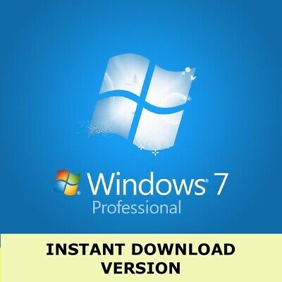Microsoft Windows 7 Professional Full Complete Version 32 & 64 Bit Product Key • 4£