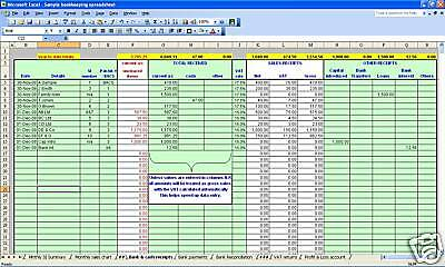 Bookkeeping And VAT Spreadsheets For Businesses With Cash Sales 2021 Year End • 14.99£
