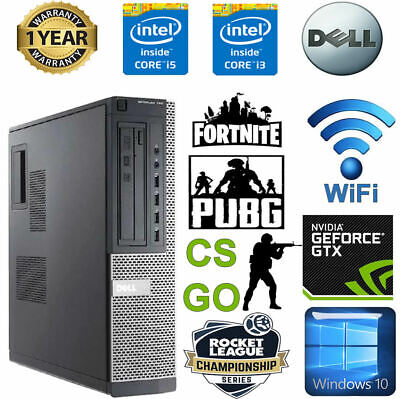 Cheap Gaming PC Dell Optiplex Quad I5 8GB Ram 1TB SSD Nvidia Geforce 1030 KIDS • 198£