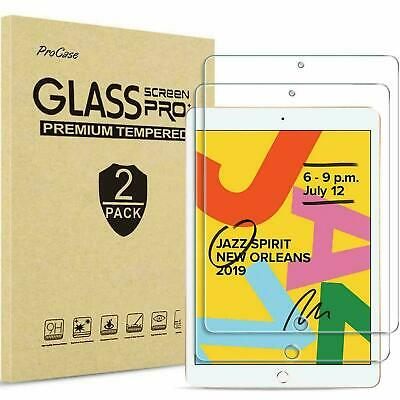 2 Pack Tempered Glass Screen Protector For Apple IPad 10.2 (2019) 7th Generation • 6.49£