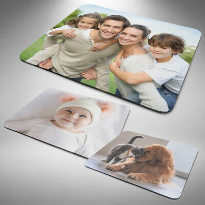 Personalised Photo / Logo Mouse Mat Pad Computer PC Laptop Gift Gaming • 3.99£