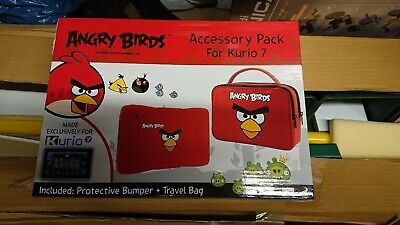 Angry Birds Kurio 7 Protective Skin Bumper And Travel Bag Accessory Pack Red • 18£