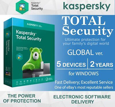 Kaspersky Total Security 2020 5 Devices (PC) 2 Years For Windows GLOBAL Region • 15.48£