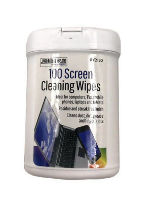 100 X Screen Cleaning Wet Wipes Laptop LCD TV Computer LED IPad Monitor Cleaner • 7.25£