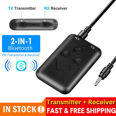Stereo AUX  Wireless Bluetooth Transmitter Receiver Audio Music Adapter Dongles • 5.89£