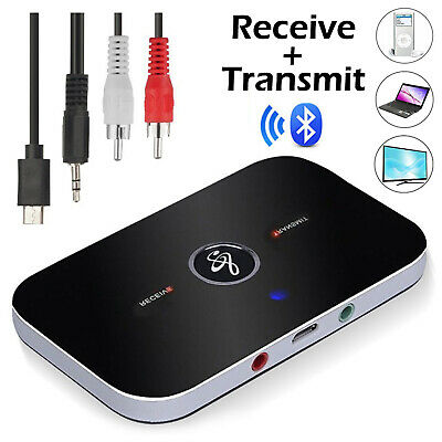 Bluetooth Wireless Transmitter Receiver HiFi Music Adapter AUX RCA Dongles HOT • 7.89£