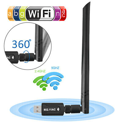 1200 Mbps WiFi Dongle Wireless Adapter USB 3.0 For PC Laptop LAN Network 2.4GHz • 9.69£