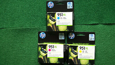 Genuine Original Sealed Set Of Three Hp 951xl Yellow Cyan Magenta  • 51.99£
