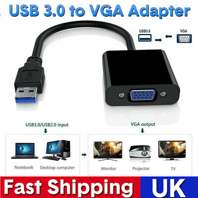 USB 3.0 To VGA Multi Display Adapter External Video Card For Window 7 8 8.1 HOT • 7.99£