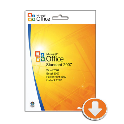 Microsoft Office Standard 2007, Outlook, Word, Excel, PowerPoint • 9.98£