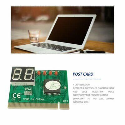 PCI PC Diagnostic 2-Digit Card Motherboard Post Tester Analyzer Checker • 2.74£