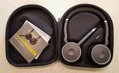 Jabra Evolve 75 With Active Noise Cancelling (ANC), Link 370 USB & Hard Pouch • 16£