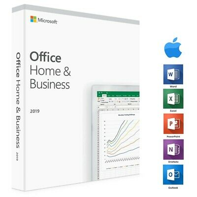 Microsoft Office Home And Business 2019 For Mac Lifetime -INSTANT-All Language • 8£