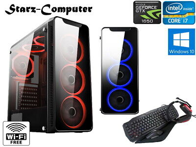 ULTRA FAST Quad Core I7 Gaming Computer PC 1TB 16GB RAM GTX 1650 4GB 6 FANS • 399.99£