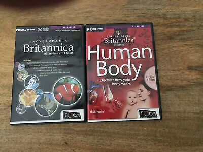 Encyclopedia Britannica Millennium Fourth Edition And Human Body For PC • 1.95£