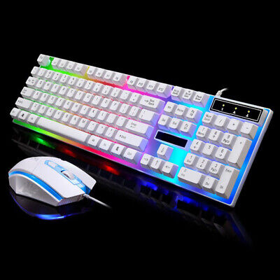 Pro LED Keyboard Mouse Combo Adapter For PS4/PS3/Xbox One And 360 Gaming Rainbow • 14.50£