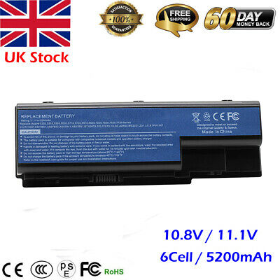 Battery For Acer Aspire AS07B31 AS07B41 5300 5310 5315 5535 5720 5735 5920 6930 • 11.69£