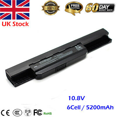 6 Cell Laptop Battery For ASUS A32-K53 A41-K53 K53U A53E A53SC A54 A54C A54HR • 11.20£
