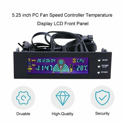 5.25 Inch PC Fan Speed Controller Temperature Display LCD Front Panel CA • 10.26£