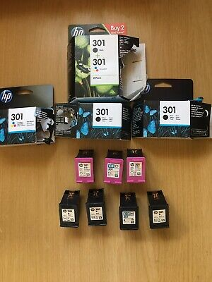 7 Genuine HP 301 Empty Ink Cartridges Black And Colour • 13.50£