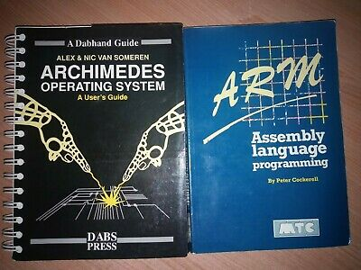 Acorn Archimedes OS User Guide And ARM Assembly Language Programming Books • 5£