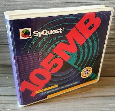 New Vintage SyQuest SQ310 105MB 3.5  Removable Hard Disc Cartridge - Freepost • 14.99£