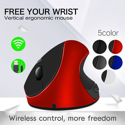 2.4GHz Ergonomic Wireless Vertical Optical Mouse For PC Laptop Computer +USB • 9.49£