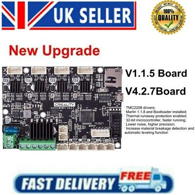 V4.2.7 Creality 3D Upgrade Replacement Motherboard Silent Mainboard For Ender 3 • 36.49£