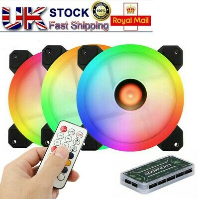 3 Fans RGB Computer Case Fan PC CPU Cooling Fan Cooler Silent With Controller Ee • 15.29£