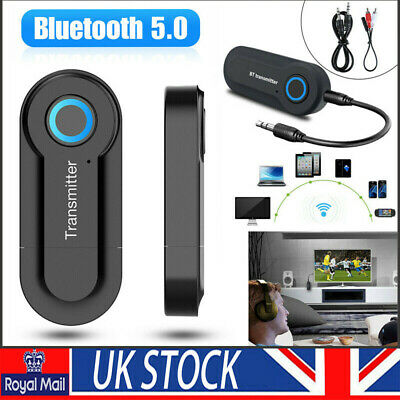 Bluetooth Audio Transmitter Adapter Wireless Stereo Sender TV Speaker USB Dongle • 4.99£
