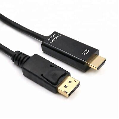1m Displayport Dp To Hdmi Hd Gold Cable Lead Wire Display Monitor Pc Laptop • 4.69£