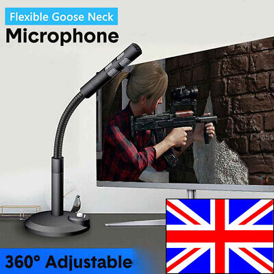 USB Microphone Mini Recording Vocals Mic Podcast Speech Gaming Chat For Phone PC • 9.99£