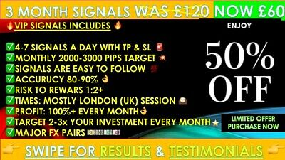 New 3 Month Vip Expert Forex Trading Signals - Daily Fx Profit- Accuracy 80-90% • 25£