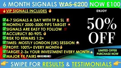 New 6 Month Vip Expert Forex Trading Signals - Daily Fx Profit- Accuracy 80-90% • 35£