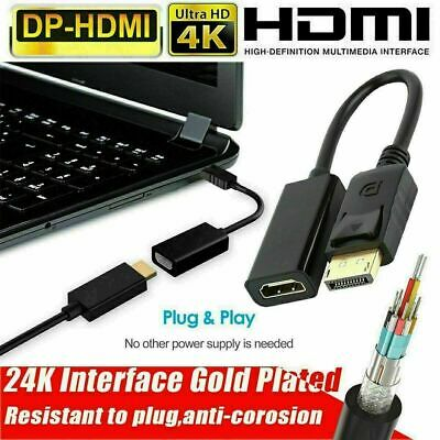 4K Display Port DP To HDMI Female Cable Adapter Converter DisplayPort For HDTV • 4.99£