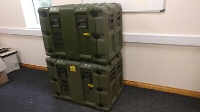 2 X Military Grade Ruggedised Stackable 19 Inch 12U Server Comms Cabinets • 599£