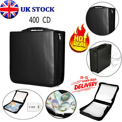 Portable 400 Disc CD Holder DVD Case Storage Wallet VCD Organizer PU Leather Bag • 11.89£