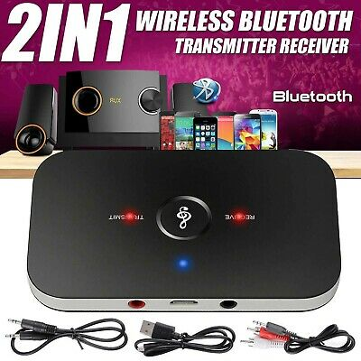 Bluetooth Wireless Audio Transmitter Receiver HiFi Music Adapter AUX RCA 2 In 1 • 6.99£