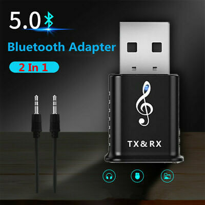 For TV PC USB Bluetooth 5.0 Transmitter Receiver Adapter Car AUX Speaker Stereo • 4.89£