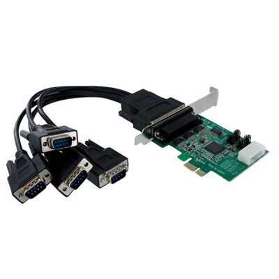 StarTech.com 4 Port Native PCI Express RS232 Serial Adapter Card With 16950 UART • 125.71£