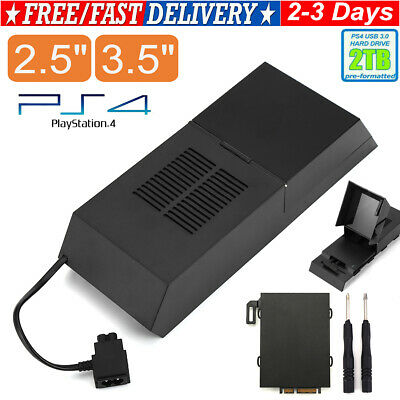 """For PS4 External Hard Drive 2TB 3.5"""" 2.5"""" Playstation Data Bank Game LED Light • 19.99£"""