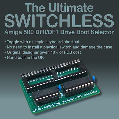 Ultimate SWITCHLESS Amiga 500 DF0/DF1 Drive Boot Selector For GOTEK Flash Floppy • 19.99£