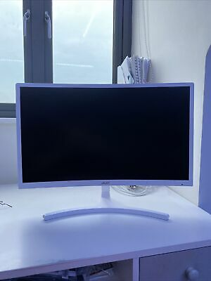 Acer 23.6 Inch Curved White Monitor • 100£