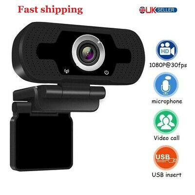 Full HD 1080P CMOS Webcam With Microphone MIC USB For PC Desktop Laptop • 6.59£