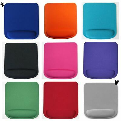 Square Premium Anti Slip Mouse Mat With Wrist Support For Laptop Pc Many Colours • 3.99£