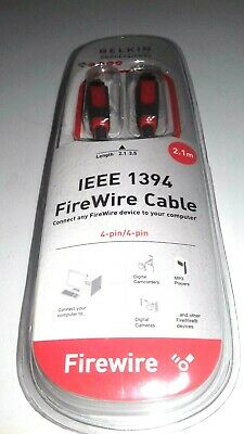 Belkin Professional IEEE 1394 Firewire Cable 4-pin 2.1m New Sealed • 6.89£