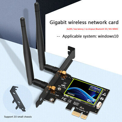 AX200 2974Mbps WiFi PCI-E Adapter Dual Band Bluetooth Receiver Network Card • 18.55£